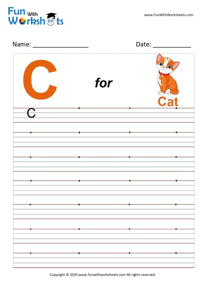 Learn Capital Alphabets ( Letter 'C' ) - Free Printable Worksheets